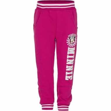 Fuchsia minnie mouse joggingbroek