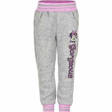 Grijze minnie mouse joggingbroek