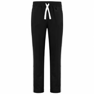 Joggingbroek/sportbroek zwart met streep voor dames