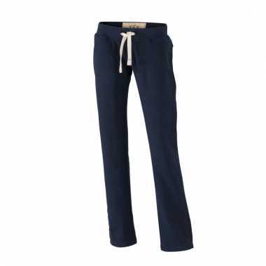 Vintage joggingbroeken navy met zakken voor dames