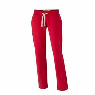 Rode Joggingbroek Dames.Vintage Joggingbroeken Rood Met Zakken Voor Dames Joggingbroek