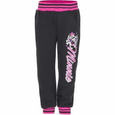 Zwarte minnie mouse joggingbroek